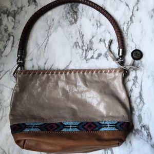 The Sak Small Shoulder Bag Brown Leather Aztec